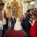 nevěsta a ženich, svatební den, svatba v kostele