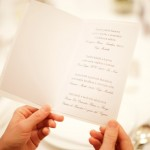 svatební menu, svatební tiskoviny