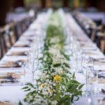 svatební hostina, rustikální svatba, provence svatba, greenery wedding