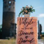 Uvítací nápis na svatbu